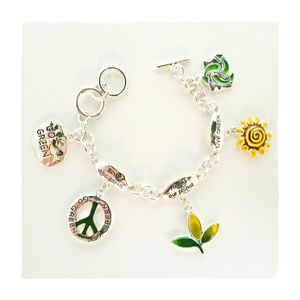 Jewelry - Charm Bracelet Environment Aware Earth Recycle